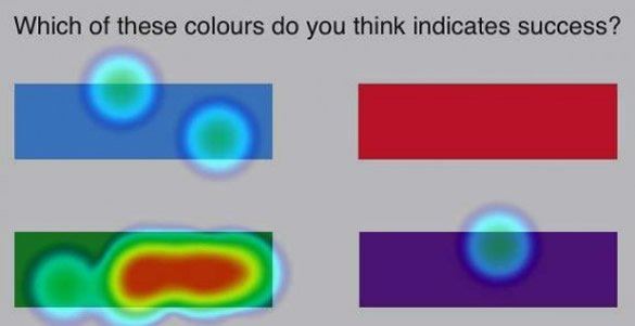 большинство людей выбирают зеленый цвет