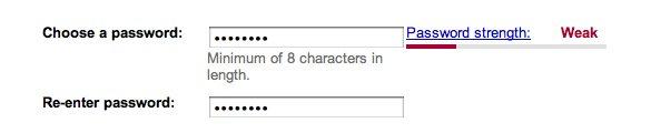 Пример: простой пароль