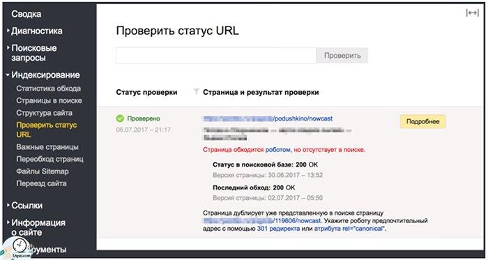 """Ищем дубли в """"проверить статус URL"""""""