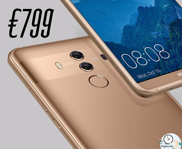 Стоимость Huawei Mate 10 и 10 Pro примерно 800 евро