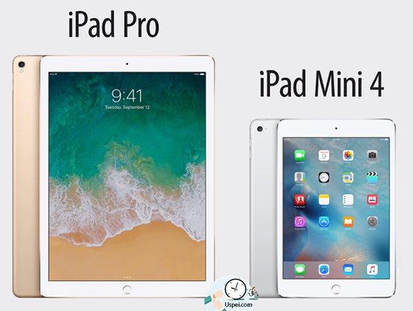 В 2015 году выходит гигантский iPad Pro с дисплеем на 12.9 дюймов и iPad Mini 4.