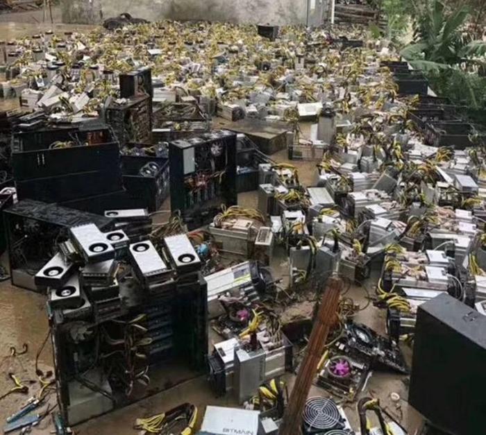 Затопило майнинг-фермы в Китае