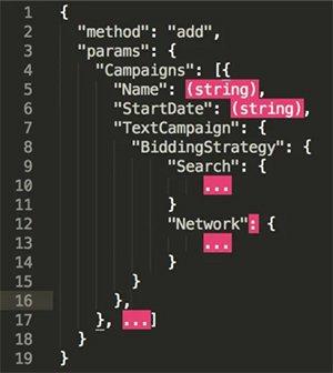 С помощью метода add отправляем параметры новой кампании