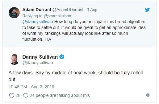 Твит Дэнни Салливана