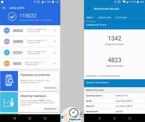 ASUS ZenFone Max Pro - результаты тестов