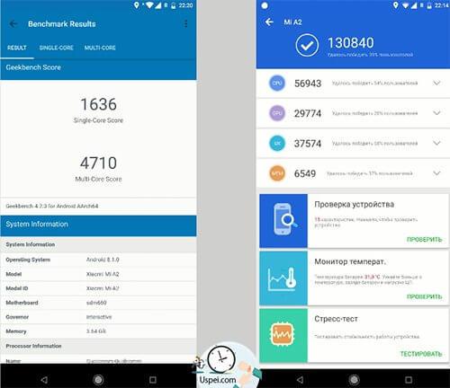 Xiaomi Mi A2 - результаты тестов