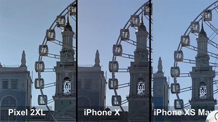 iPhone XS Max - сравнение фото