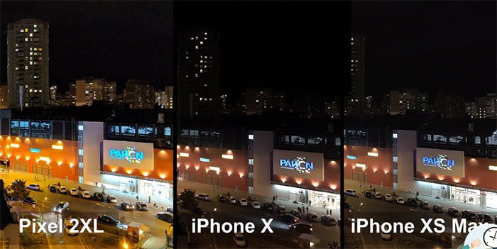 iPhone XS Max - пример ночного фото