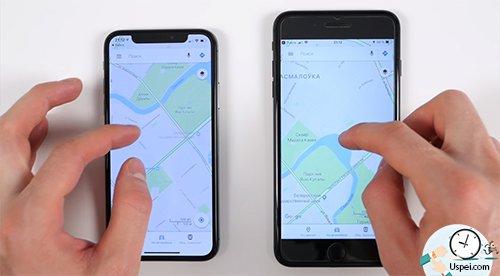 размеры дисплеев iPhone - В вертикальной ориентации вообще минимум программ вроде навигаторов или фотоприложений могут задействовать ушки статус бара возле выемки.