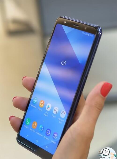 Как снимает Samsung Galaxy A7 2018 - сканер сбоку