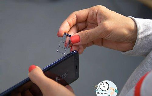 Как снимает Samsung Galaxy A7 2018 - Micro SD и две симки