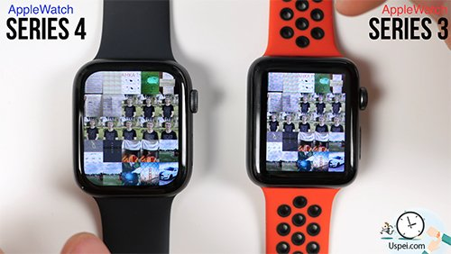 Сравнение Apple Watch 4 и Apple Watch 3 - увеличение диагонали повлияло на размер объектов а не на их количество