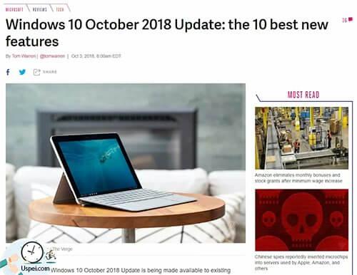 Вышло крупное обновление MicrosoftWindows 10