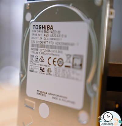 В нашей PlayStation 4 Pro установлен диск на 1 Tb от Toshiba
