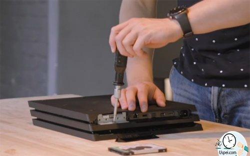 Разбор PS4 и процесс замены диска
