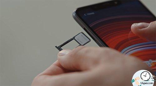 Xiaomi Pocophone F1 - гибридный лоток