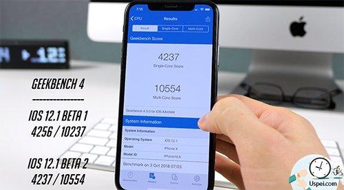 Бенчмарки Geekbench 4 и Antutu на iPhone X показывают минимальные отличия