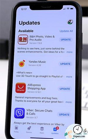 """запустите App Store, перейдите на вкладку """"Обновления"""", тапните по иконке с аккаунтом"""