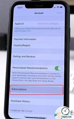 выберите свой профиль Apple ID и перейдите в раздел с подписками.