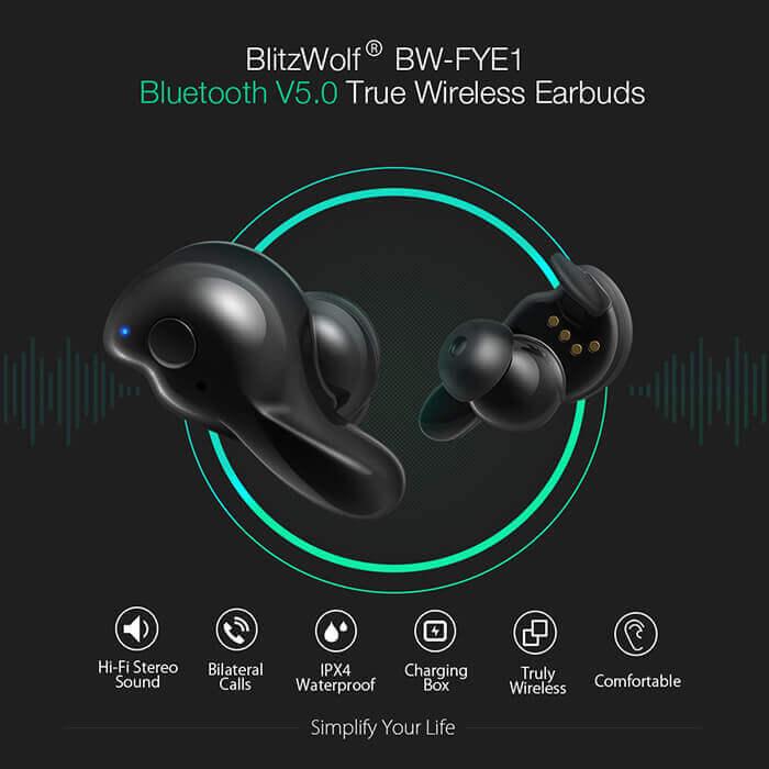 Blitzwolf® BW-FYE1 отличное качество звука