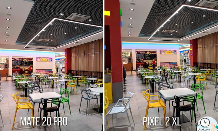 Вот примеры съемки на Mate 20 Pro и Pixel 2 XL с приложением камеры от третьего пикселя