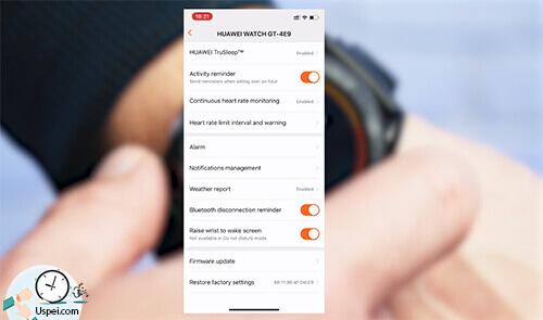 Обзор Huawei Watch GT: приложение Huawei Health