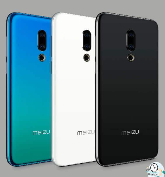 Meizu 16th Помимо этого есть черная и белая версии, корпус выполнен из стекла с закруглением, рамка металлическая матовая в цвет смартфона.