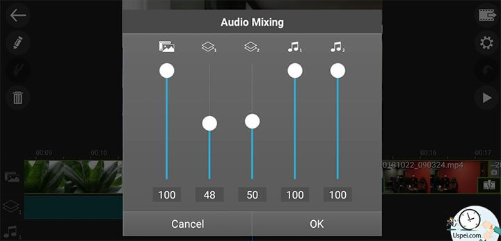 PowerDirector - работа со звуком