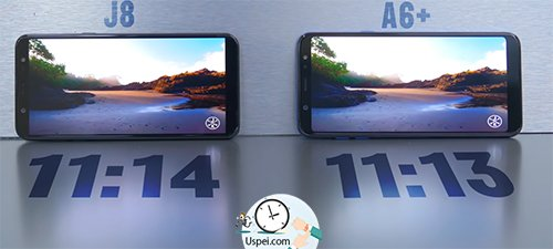 Samsung Galaxy J8 VS A6+:  автономность одинаковая