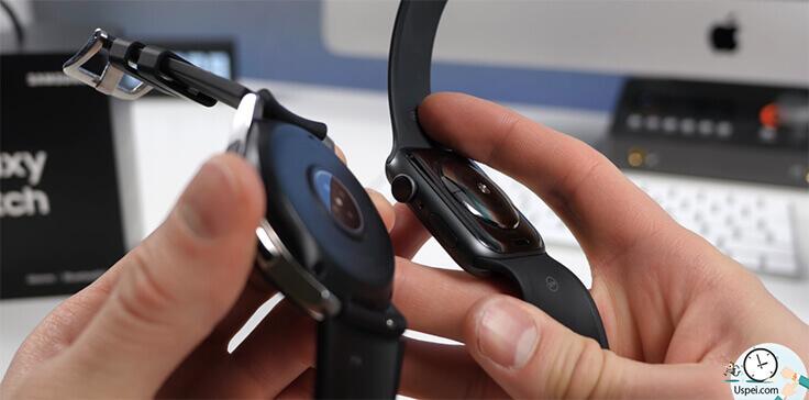 Samsung Galaxy Watch: Датчик сердечного ритма слегка выпирает из плоскости