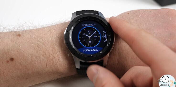 Samsung Galaxy Watch: Интерфейс заточенный под круглый дисплей