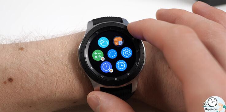 Samsung Galaxy Watch: Tizen выглядит в главном меню и многих стандартных приложениях как то по детски