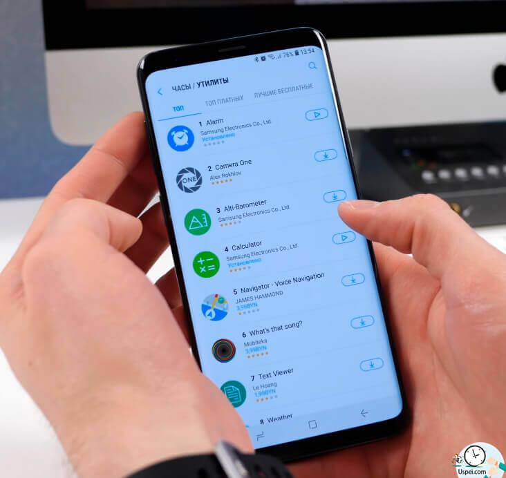 Samsung Galaxy Watch: обилие сторонних программ и там есть всякие полезные вещи, как браузер и youtube.