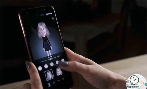 Samsung Galaxy A7: селфимоджи