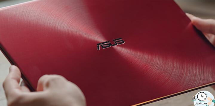 ZenBook S: Верхняя крышка металлическая с переливами вокруг логотипа
