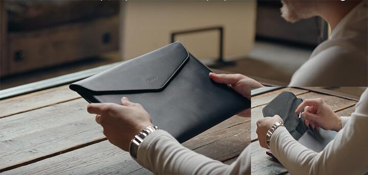 ZenBook S: чехол-конверт с бархатной отделкой, карманом для комплектной тряпки, чтобы протирать ноутбук