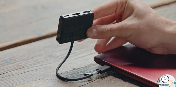 ZenBook S: переходник с Type-C на hdmi и usb-a