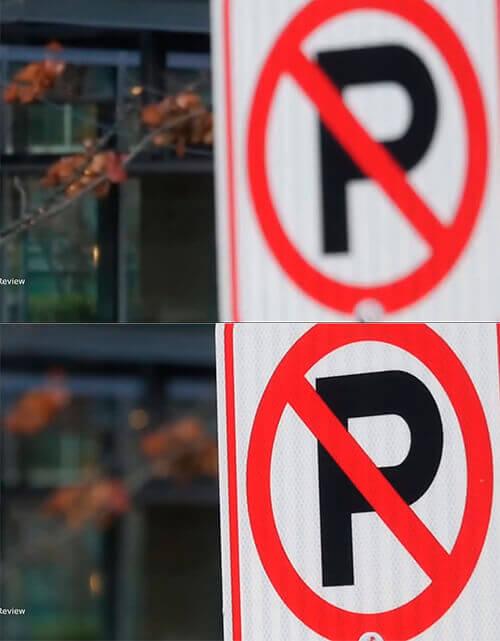 Например, вы хотите сфотографировать дорожный знак. Камера сделает несколько перемещений линзы, определит контраст между краями этого объекта и фоном, после чего настроится на резкость.