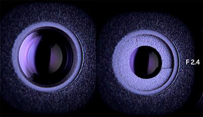 диафрагма влияет не только на количество света. Например, она уменьшает вышеупомянутые аберрации, потому что не дает лучам попадать на края линз, где наибольшая кривизна, а наоборот, концентрирует пучок в центральную часть.