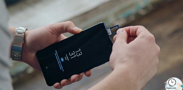 Samsung Galaxy A9 - Сверху не гибридный слот для двух sim карт micro sd