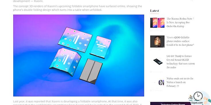 Складной смартфон Xiaomi будет иметь две стройки