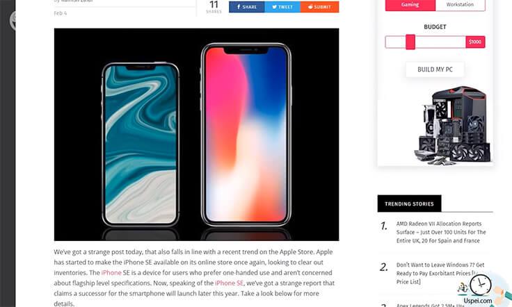 Уже этой весной Apple может показать новый iPhone SE