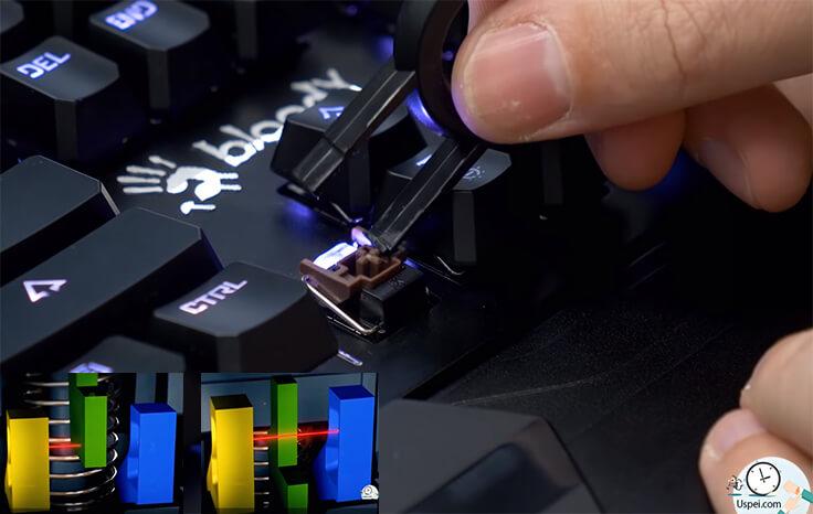 Самая дорогая игровая клавиатура Bloody - оптические свитчи