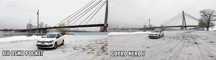 Обзор DJI Osmo Pocket — Сравнение с GoPro