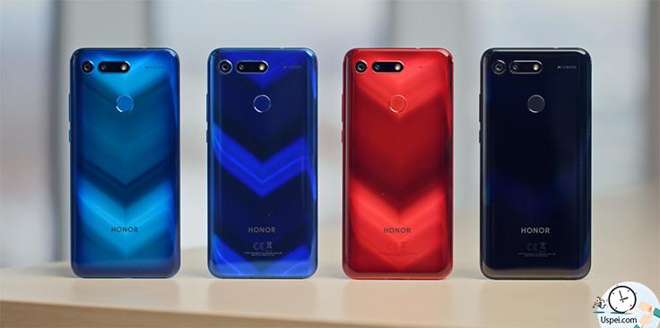 Honor View 20 - предлагается в четырех цветах: черный синий, красный и голубой