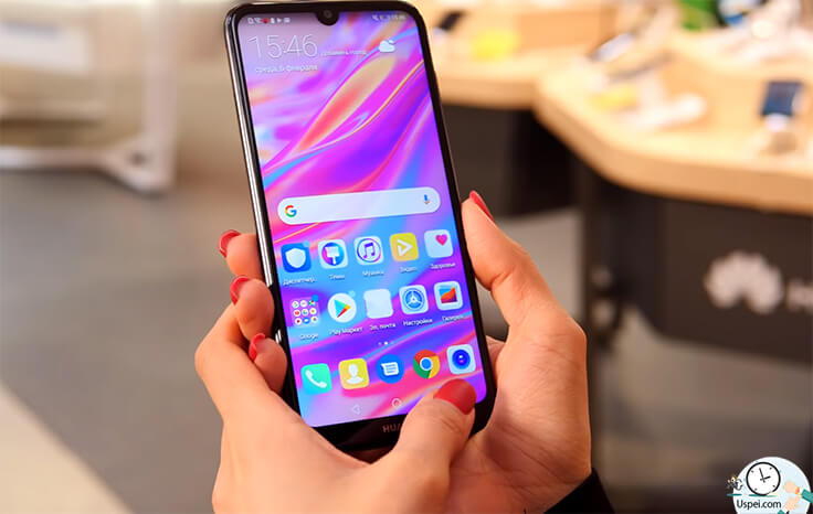 Обзор смартфона Huawei Y7 2019 - фейс онлок