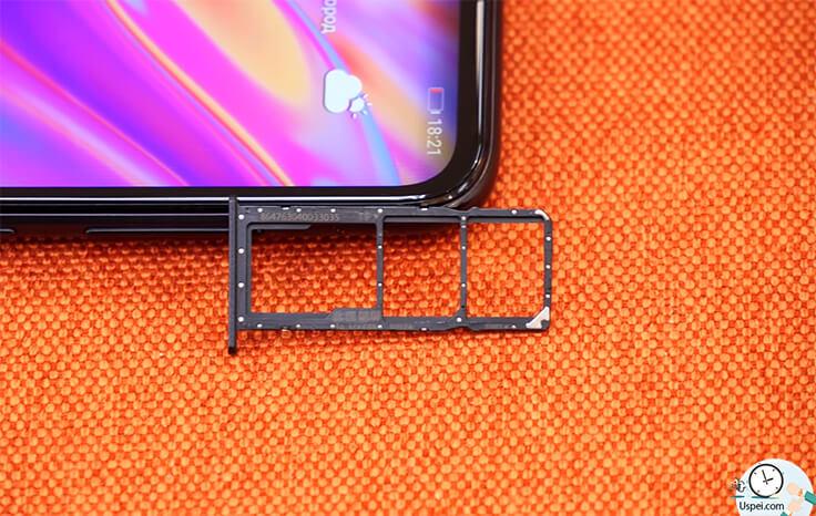 Обзор смартфона Huawei Y7 2019 - слоты
