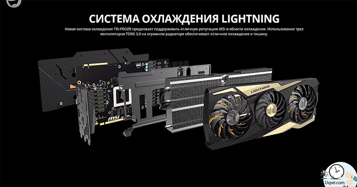 RTX 2080 Ti LIGHTNING Z наимощнейшая система охлаждения