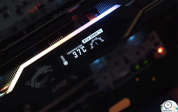 RTX 2080 Ti LIGHTNING Z LED экранчик для информации о карте