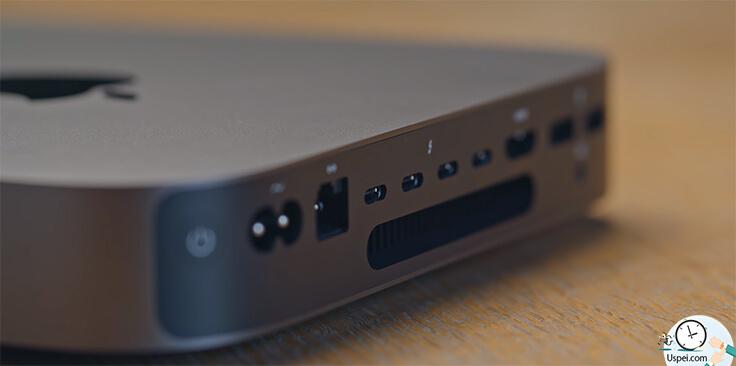 Обзор Mac mini (2018) – Для серверных нужд на корпусе был размещен разъем RJ-45